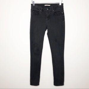 Levi's | Women's Black 711 Skinny Jeans Size 28